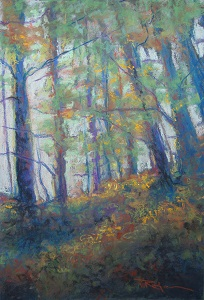 #SP1235 'Autumn Burn' Original Art - soft pastel
