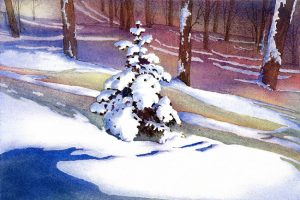 #WC706 Winter Charm - watercolour print