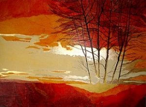 #C1313 'Morning's Glory' Original Art - collage